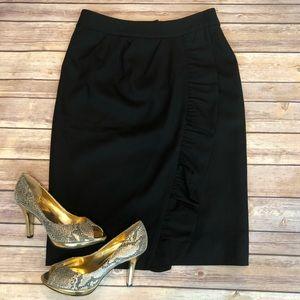 Kate Spade Wool Ruffle Skirt